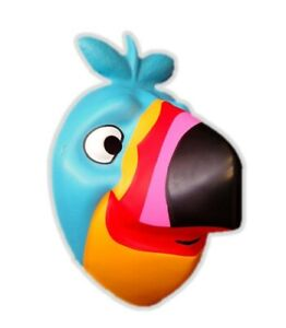 Kelloggs Toucan Sam Child Face Mask Froot Loops Plastic PVC Licensed