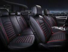 Per BMW Lancia Opel Coprisedili Nero Filo Rosso Similpelle Set Completo