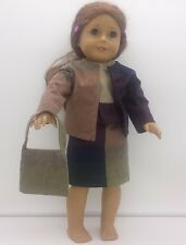 """18"""" Doll Three Piece Block Print Outfit Fits American Girl Homemade Doll Clothes"""