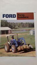 FORD FARM LOADERS BROCHURE AD-6080A-38625