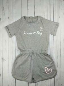 Personalised Name & Heart Playsuit (girls, custom, kids, baby, toddler, gift)