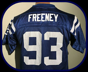 INDIANAPOLIS COLTS REEBOK DWIGHT FREENEY YOUTH LARGE ON FIELD REPLICA JERSEY
