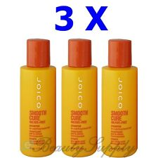 Joico Smooth Cure Sulfate Free Shampoo Travel Size 1.7 oz (Lot of 3)