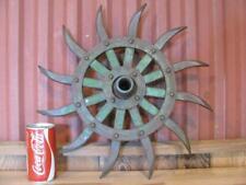 """Cool Vintage John Deere 17"""" 12 Spike Rotary Hoe Wheel Garden Art SteamPunk"""