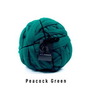 1kg Peacock Green Mammoth®   Giant Chunky Extreme Arm Knitting Big Stitch Yarn
