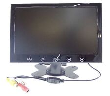 MONITOR PER VIDEOSORVEGLIANZA DA 9'' POLLICI  LCD TOUCH BUTTON 2 INGRESSI VIDEO