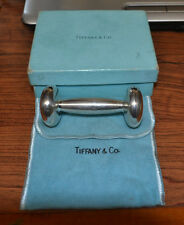 Tiffany & Co Sterling Silver Barbell Baby Rattle Teether w/Monogram-Circa 1965
