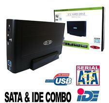 "3.5"" IDE & SATA Hard Drive Caddy USB 2.0 External HDD Enclosure"