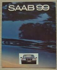 SAAB 99 UK Car Sales Brochure 1980 #208637