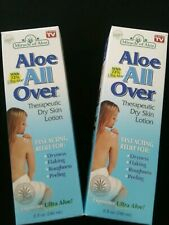 Lot of 2 Miracle of Aloe -Aloe All Over Therapeutic dry skin Lotion 8 Oz each