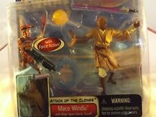 Star Wars Mace Windu, Attack of the Clones w/Force Action-2002-Sealed