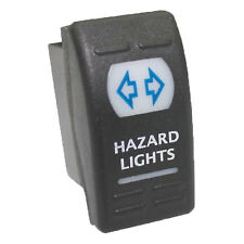 Rocker switch 216B 12V 16A HAZARD LIGHTS ON OFF Universal blue SPST ATV