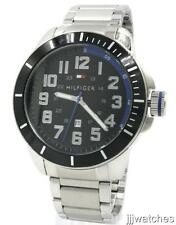 New Tommy Hilfiger Stainless Steel Date Men Dress oversize Watch 52mm 1791074