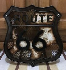 Route US 66 Metal Art Garage Gas Oil Decor Highway Wall Vintage Style