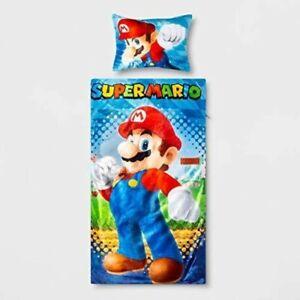 Brand NEW Super Mario 2 Piece Slumber Bag With Pillow Super Soft