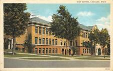 High School, Cadillac, Michigan 1932 Vintage Postcard
