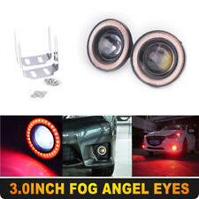"3"" High Power Red LED Projector Fog Light COB Halo Angel Eye Ring For Nissan"