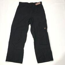 NWOT Red Kap PT2A Men's Double Knee No-Scratch Black Shop Pants 30x26