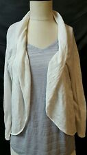 Merona White Open Front Cardigan Size Large L Shawl Collar Light Weight
