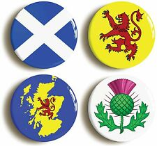 SCOTLAND BADGE BUTTON PIN SET (Size is 1inch/25mm diameter) SCOTTISH FLAGS