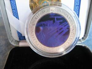 500 Tenge Kasachstan Space 2013 ISS 26,8g Tantal, 14,6 Silber Bi-Metall