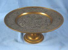 Belle coupe sur pied, en bronze ouvragé deux tons, à décor de Bacchanales / XIXè
