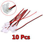 10Pcs PCB Conector Cable 2 Pin LED 3528/5050 adaptador Tiras Luces