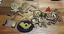 New listing Insignia Letter Number Corps Badge Cannon Eagle Artillery Bullion Infantry