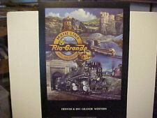 Railroad Art, Winfield, D&RGW Collage, 5 locos, + Moffat Tunnel, signed,22X18""