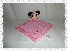 T - Doudou Semi Plat Losange Minnie Rose Coccinelle Papillon  Disney Nicotoy