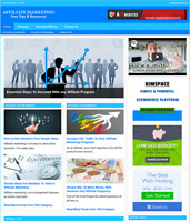 AFFILIATE MARKETING Website Business For Sale - Work From Home Internet Business