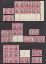 South Africa 1934-1951 KGV Dromedaris 1d Selection Blocks and Pairs Mint