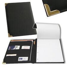 Schreibmappe DIN A4 Notizblock Leder Optik Dokumentenmappe Aktenmappe Portfolio