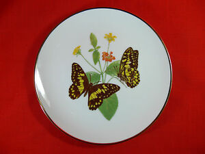 Butterflies of the Aust Garden CHEQUERED SWALLOWTAIL Collector Plate TONY OLIVER