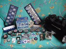Toronto Maple Leaf Ice Hockey Memorabilia - Watch Pins Badges Pucks Plaques Bag