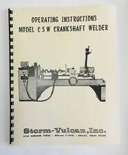 Storm Vulcan Model CSW Crankshaft Welder Manual