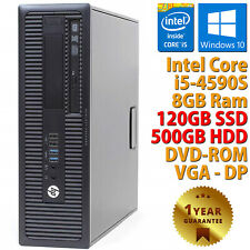 PC COMPUTER DESKTOP RICONDIZIONATO HP CORE i5-4590S RAM 8GB SSD 120GB HDD 500GB