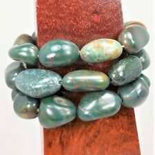 Bloodstone Bracelet Tumbled Beaded Elastic Band LR59 Healing Crystals And Stones