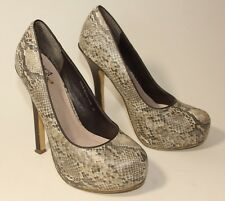 Miss KG Kurt Geiger snake skin effect high heels uk 3 eu 36