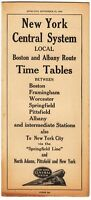 [26717] 1944 NEW YORK CENTRAL SYSTEM LOCAL BOSTON & ALBANY ROUTE TIMETABLE