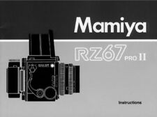 MAMIYA RZ67 PRO II INSTRUCTIONS MANUAL FREE SHIP