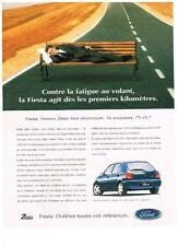 PUBLICITE ADVERTISING   2001    FORD FIESTA    moteur ZETEC