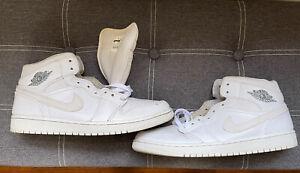 Jordan 1 Mid White Grey