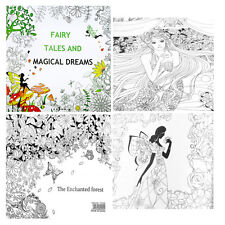 25*25CM Fairy Tales And Magical Dreams Children Adult Graffiti Coloring Book