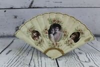 Vintage fan shaped cast metal picture frame gold patina 4 photos
