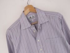 VTG279 STEPHENS BROTHERS VINTAGE SHIRT ORIGINAL MADE IN IRELAND BLUE size 14 1/2