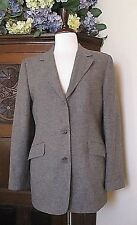 Brooks Brothers Women's Blazer Size 10 Jacket 100% Camel Hair in Gray