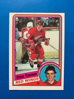 Steve Yzerman Rookie 1984-85 #67 O-Pee-Chee Hockey Card Detroit Red Wings OPC