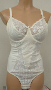 BALLET GOLD G479 LACE UNDERWIRED CONTROL BODY IN IVORY (SHOP SOILED)