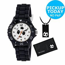 Boy's Tikkers Black Football Watch/ White Dial From Argos Kids Party Bag Gifts